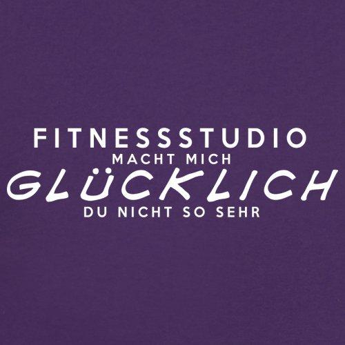 Fitnessstudio macht mich glücklich - Unisex Pullover/Sweatshirt - 8 Farben Lila