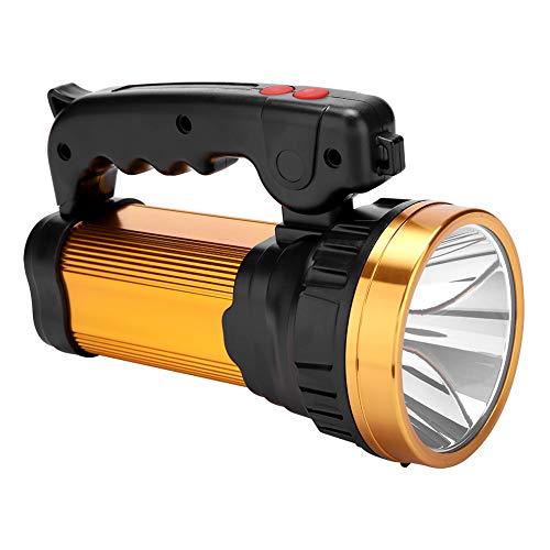 Riuty LED-Taschenlampe, XQ-186-2 Outdoor-Superheller Handheld-LED-Scheinwerfer-Scheinwerferlicht für den Einsatz beim Camping, Wandern, Angeln, Marine, Notfall