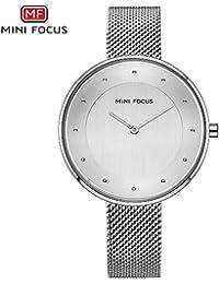 HWCOO Hermoso Relojes de Pulsera Mini Focus/Reloj de Diamantes Reloj de Cuarzo de señora