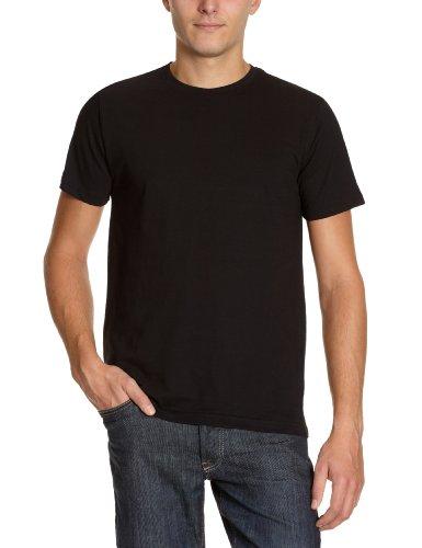 Signum Herren Shirt/ T-Shirt 2 er Pack 999900911/999, Gr. 52/54 (L), Schwarz (999 black) (Schwarzen T-shirt Co)