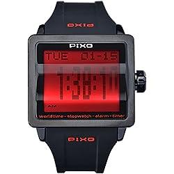 PX-1 RED, Digital Flip Watch