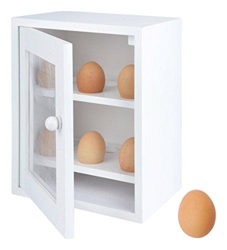Placard à œufs en bois blanc par Fallen Fruits