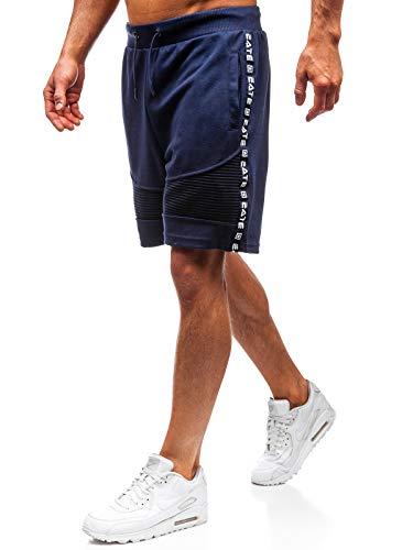 Hosen-stil Hose (BOLF Herren Kurze Hose Shorts Street Style Täglicher Stil Nature 5752 Dunkelblau M [7G7])