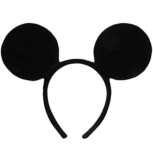 Lizzy® Adults/Kids Deluxe Mouse Ears Headband (Black Ear Mouse)