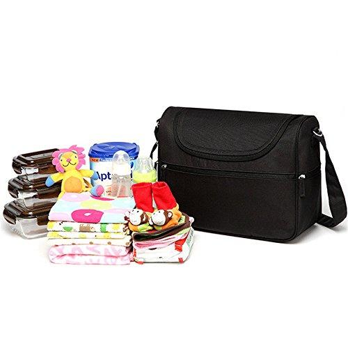 Baby Taschen Messenger Große Windel Tasche Organizer Design Windel Taschen für Mama Mode Mutter Mutterschaft Tasche Spaziergänger Schwarz