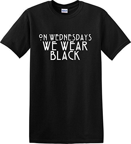 Apparel Prints Ltd 'On Wednesdays We Wear Black' Mean Girls American Horror Story Movie TV Fan Fashion T-Shirt Tshirt Tee