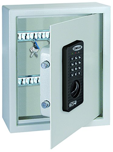 Rottner Schlüsseltresor Keytronic 20 mit Elektronikschloss, für 20 Schlüssel,  mit Notöffnung, Batteriebetrieben
