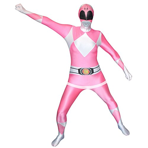 Power Ranger Morphsuit Kostüm große Zentai Anzug Cosplay Kostüm für Festivals (Pink Power Ranger Kostüm) (XXL 6