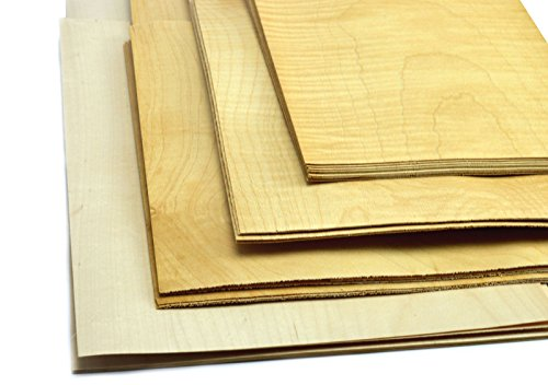 Ahorn Kirschbaum (4-5 Furniere in den Holzarten Eiche, Buche, Nussbaum, Palisander, Mahagoni. Furnier geeignet für Modellbau, Ausbesserungsarbeiten, Fotografie, Geschenk, Restauration, DIY, basteln, Intarsien, Schmuck (Ahorn))