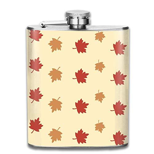 Flaschen Kanada Flagge CA Maple Leaves Portable 304 Edelstahl auslaufsicher Alkohol Whisky Alkohol Wein 7OZ Pot Flachmann Reise Flasche Camping Flagon für Mann Frau Großes kleines Geschenk - Flagge Pot Leaf