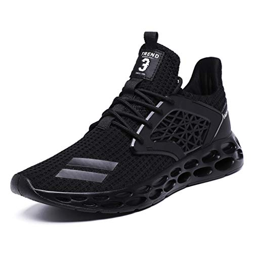 Lace-up-turnschuhe Gefüttert (letter54 Sommer Schuhe Herren 2019 Neu Trekking Fitness 44 EU Outdoor Sneaker Herrenmode Atmungsaktives Lace-Up-Sport Athletic Walking Laufschuhe Turnschuhe Schwarz)