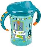 NUK 10255284 Easy Learning Trainer Cup, auslaufsicher für Kinder ab 8 Monaten, 250 ml, violett