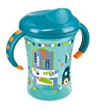 NUK 10255286 Easy Learning Trainer Cup, auslaufsicher für Kinder ab 8 Monaten, 250 ml, petrol