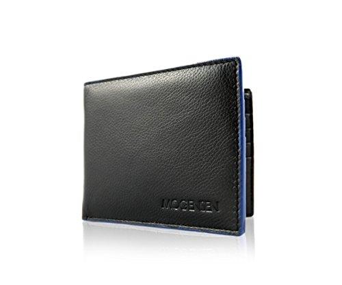 MOGENSEN Lysbro RFID a portafoglio in vera pelle (nero)