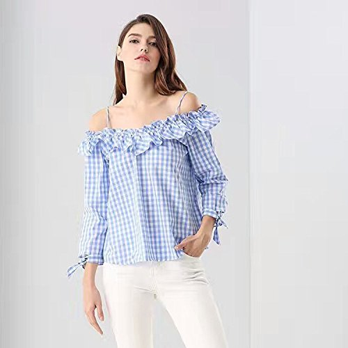 Mayihang Blouse Shirt Women 39 S Wear Sling Square Bows In The Cuff Figure L Buy Online In Uae