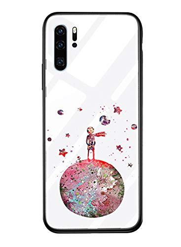 Alsoar ersatz für Huawei Mate 20 Pro Hülle Transparent Handyhülle Durchsichtig Antikratz Schutzhülle,Gehärtetem Glas Rückseite mit Soft Silikon Rahmen Süß Shell für Huawei Mate 20 Pro (Planet Prinz) - Regenbogen-kamera-objektiv