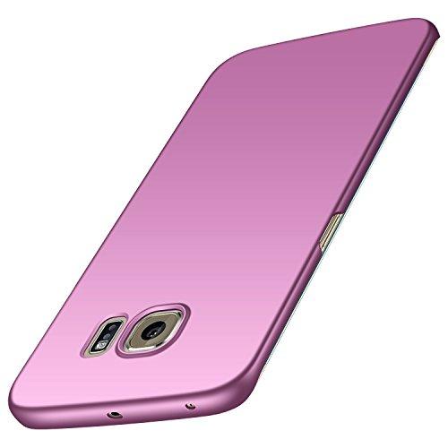 Samsung Galaxy S6 edge Hülle, Anccer [Serie Matte] Elastische Schockabsorption & Ultra Thin Design für Samsung Galaxy S6 edge (Glattes Lila)