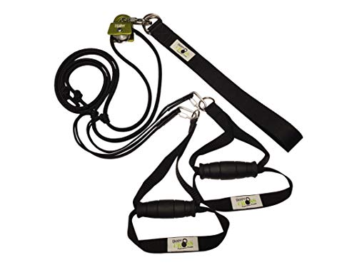 BodyCROSS Premium Schlingentrainer mit Umlenkrolle | inkl. Übungsposter, 10-Wochen Trainingsplan, Türanker und Befestigungsschlaufe | Rotate Sling Trainer | Made in Germany | 10 Jahre Garantie -