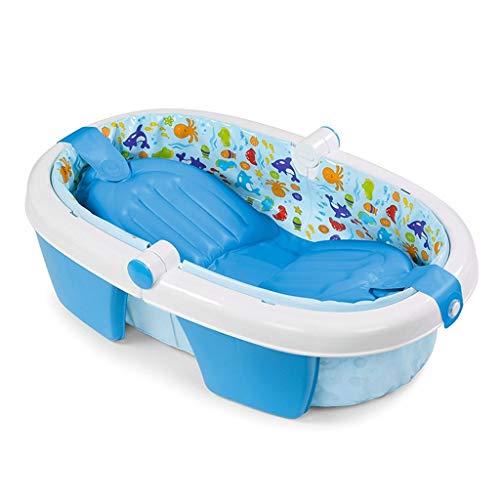 Badewanne Kinderbadewanne Aufblasbare Faltbare Duschwanne Verdicken Kinderbadewanne Tragbare Aufblasbare Badewanne (Color : Blue, Size : 73× 44 × 21cm) -