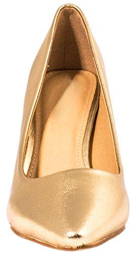 Elara Damen Pumps Spitze High Heels Stilettos Lack| chunkyrayan 1230-a-Go-37 - 3