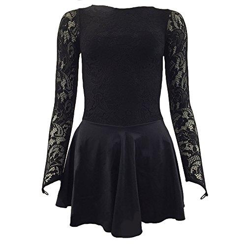 Starlite Flexuous Black Zoe Dress With Lycra Skirt, Medium Adult- 4
