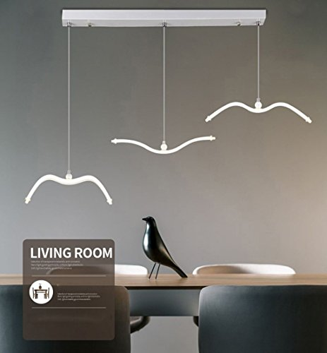 GBYZHMH Beleuchtung Kronleuchter Pendelleuchten moderne LED-Restaurant Leuchten Schlafzimmer Wohnzimmer Lights Bar Counter kreative Vogel Decke Kronleuchter Innenbeleuchtung (Farbe: Square)