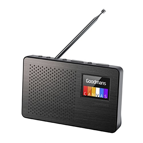 GOODMANS Tragbares DAB Leinwand Farbe 2Bildschirm aufladbare Radio