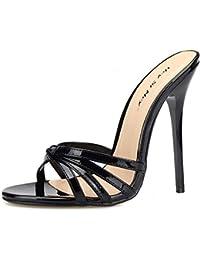 BFMEI Sandali con Tacco Alto e Pantofole, Fine Estate con Sandali con Strass Sexy Infradito Coreano (Colore : Oro, Dimensioni : 36)