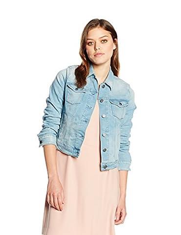 BOSS Orange Damen Jeansjacke Jacke Orange J90 New York, Gr. 38 (Herstellergröße: M), Blau (Medium Blue 428)