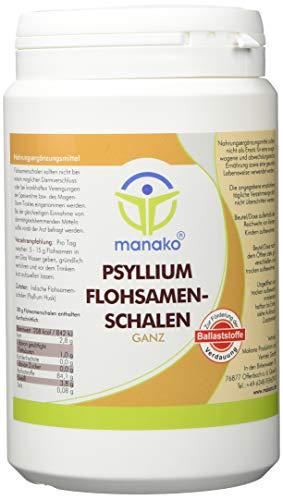 manako prebiotic Psyllium Flohsamenschalen ganz, 250 g Dose (1 x 0,25 kg)