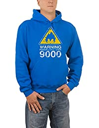 Touchlines Warning Power Level Over 9000, Sweat-Shirt àCapuche Homme