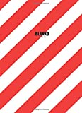 Blanko Buch A4: Notizbuch   Zeichenbuch   Skizzenbuch   rot-weiss gestreift   gebunden   110 Seiten   cremefarbenes Papier   Softcover