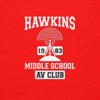 NERDO - Hawkins AV Club - Herren T-Shirt Rot