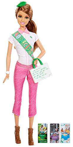Mattel Barbie Loves Girl Scouts, Brunette Doll (Girl Scouts)