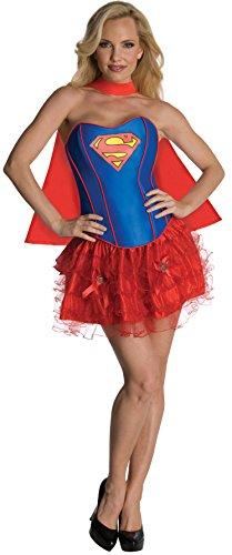 Rubie's 3 880558 L - Supergirl Corset Erwachsene Kostüm, Größe L