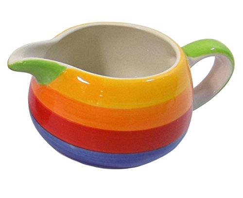 Diseño de arco iris pintado a mano apta para microondas Lavavajillas jarra...