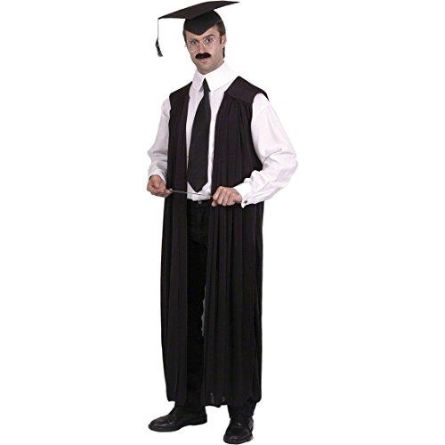 Lehrer Kostüm Richterrobe Pauker Richter Dozent Outfit Robe Lehrerkostüm Herrenkostüm Karnevalskostüme Männer (Erwachsene Richter Kostüme Robe)