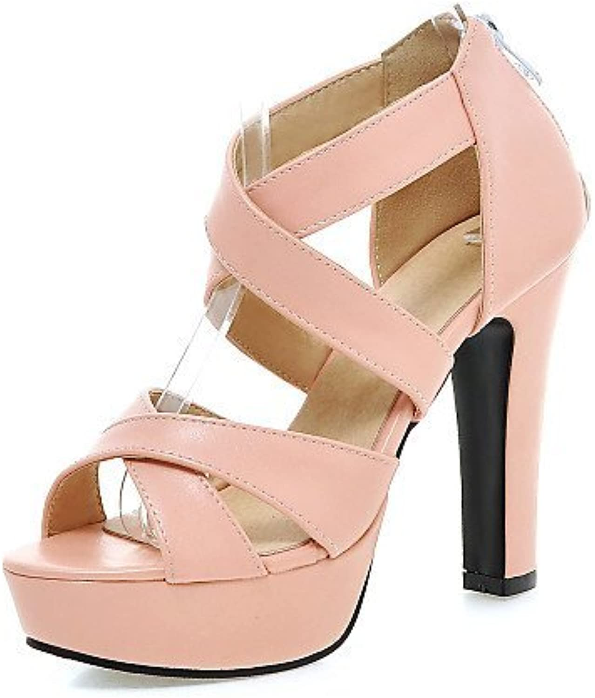 shangyi des chaussures sandales similicuir noir trapu au au au pied des talons b01fzjj7yu rose et blanc des parents   Réduction  69772f