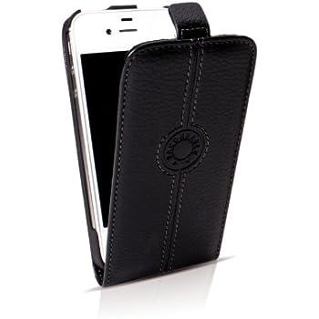 Faconnable FACOSELIP5N Étui à rabat en cuir pour  iPhone5/5S/SE Noir