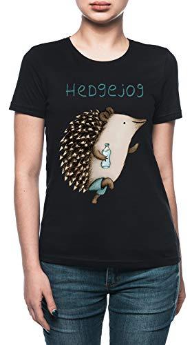 Hedgejog Damen T-Shirt Schwarz - Hogs Out T-shirt