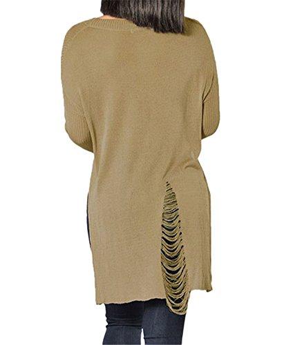 VIGVOG - Sweat-shirt - Femme noir noir M Kaki
