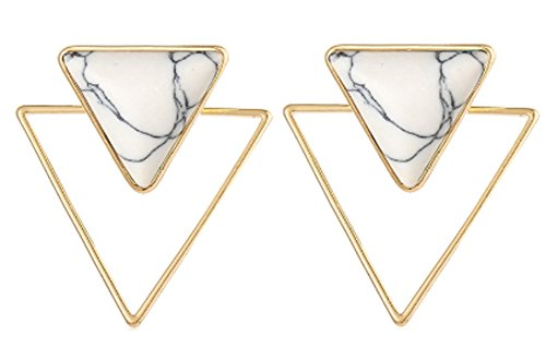 saysure-vinatge-hollow-out-triangle-natural-stone-dangle