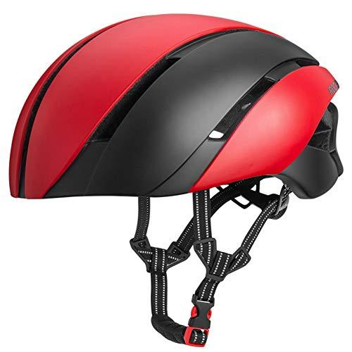 ZLK Fahrradhelme Ultraleichter Fahrradhelm Für Fahrräder Integrierter Reflektierender, Seismischer Schutzhelm Für Fahrräder 57-62 cm