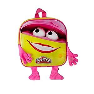 Play Dough DARP-CPDO091 Play-Doh - Mochila para niña con 12 Accesorios creativos, Color Rosa y Amarillo