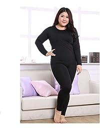 11daa74b6 HITSAN 6XL Plus Size Thermal Pyjamas Women Autumn Winter Nightwear  Underwear Women Warm Suit Long John