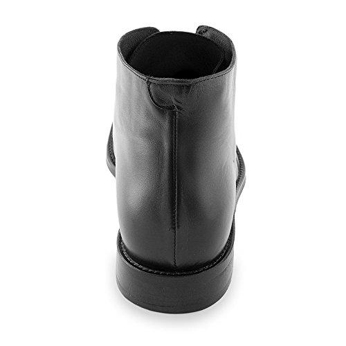 Masaltos - Chaussures rehaussantes pour homme. Jusqu'à 7 cm plus grand! Modèleo Lugano Noir