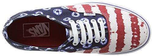 Vans Authentic Scarpe da Ginnastica Basse, Unisex Adulto Blue Red