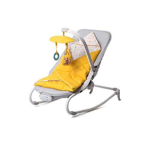 Kinderkraft Felio Babywippe Schaukelsitz Babyschaukel Wippe Schaukel Babysitz Gelb