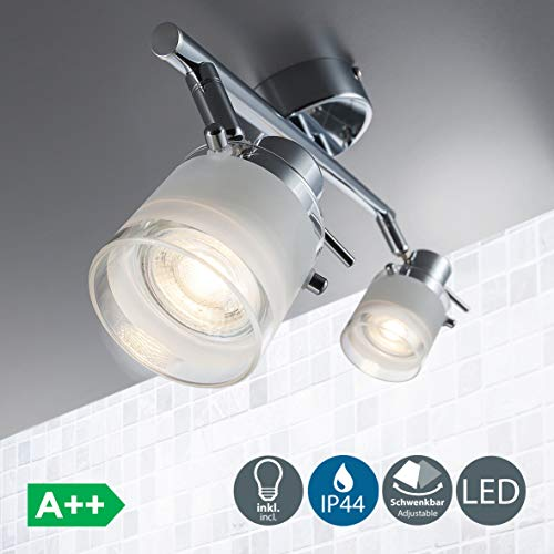 Focos techo baño LED IP44 incl. 2x5W bombillas GU10