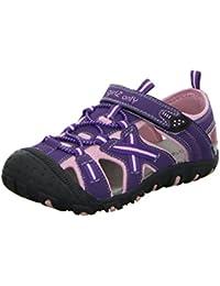GirlZ OnlY Mädchen Outdoor Sandale mit Zehenschutz Pink/Lila